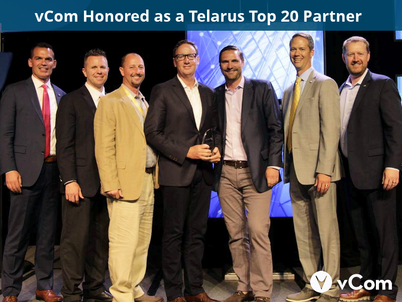 vCom named a Telarus Top 20 Partner