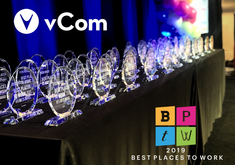 vCom Best Places to Work in the Bay Area 2019